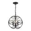 ELK lighting Chandette 3 Light Pendant In Oil Rubbed Bronze