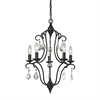 ELK lighting Chandette 5 Light Chandelier In Oil Rubbed Bronze