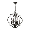 ELK lighting Chandette 4 Light Chandelier In Oil Rubbed Bronze