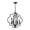 ELK lighting Chandette 4 Light Chandelier In Oil Rubbed Bronze
