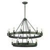 ELK lighting Lewisburg 22 Light Chandelier In Malted Rust