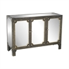 Sterling Jules Mirrored Cabinet Black Stain,Gold Accents,Clear Mirror