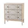 Sterling Albiera 3 Drawer Cabinet Natural Linen,Driftwood Grey