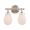 Jaelyn 2 Light Vanity In Brushed Nickel