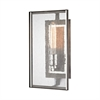 Ridgeview 1 Light Wall Sconce In Weathered Zinc With Polished Nickel Accents