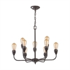 ELK lighting Vernon 9 Light Chandelier In Oil Rubbed Bronze