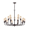 ELK lighting Vernon 15 Light Chandelier In Oil Rubbed Bronze
