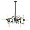ELK lighting Transit 12 Light Chandelier In Silvered Graphite