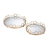 Snaffle Bit Mirrored Trays
