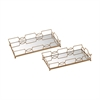 Bow Tie Mirrored Trays