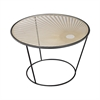 City Hall Accent Table Gold,Black
