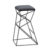 Sterling Kaspar Stool Black,Grey Linen