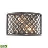 ELK lighting Genevieve 2 Light LED Wall Sconce In Oil Rubbed Bronze