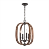 Wood Arches 4 Light Chandelier In Oil Rubbed Bronze