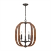 ELK lighting Wood Arches 5 Light Chandelier In Oil Rubbed Bronze