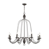ELK lighting Monroe 8 Light Chandelier In Oil Rubbed Bronze