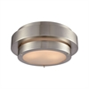 Layers 3 Light Flush In Satin Nickel