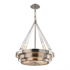 Chronology 8 Light Chandelier In Brushed Stainless With Polished Nickel Accents