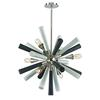 Solara 6 Light Chandelier In Polished Nickel