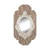 Villeneuve Wall Mirror In Weathered Wood Finish