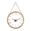 Sterling Geri Wall Clock Gold Leaf