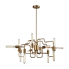 Transit 12 Light Chandelier In Matte Gold
