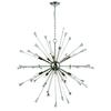 Sprigny 10 Light Chandelier In Polished Nickel With Clear Crystal