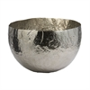 Lazy Susan Hammered Nickel-Plated Brass Dish - Lg