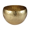 Gold Hammered Brass Dish - Lg