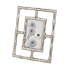 Lazy Susan Silver Bamboo Frame