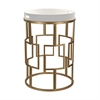 Gold and White Accent Table