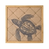 Turtle on Linen Note Board