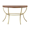 Balart Walnut and Gold Console