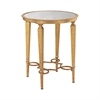 Sterling Alcazar Accent Table Antique Gold,Antique Mirror