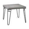 Montparnasse Accent Table In Aged Iron And Concrete