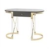 Sterling Attire Desk Grey,Gold,Clear