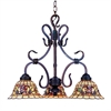 ELK lighting Tiffany Buckingham 3 Light Chandelier In Vintage Antique