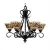 ELK lighting Tiffany Buckingham 6 Light Chandelier In Vintage Antique