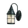 ELK lighting Rustica 1 Light Wall Sconce In Matte Black And Scavo Glass