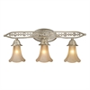 ELK lighting Chelsea 3 Light Vanity In Aged Silver And Beige Frosted Glass