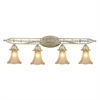 ELK lighting Chelsea 4 Light Vanity In Aged Silver And Beige Frosted Glass