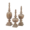 Sterling St. Augustine Finials Bleached Wood