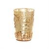 Pomeroy Fleur Embossed Votive In Antique Champagne, Antique Champagne