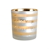 Pomeroy Tidings Votive, White,Gold