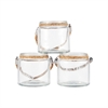Pomeroy Oceans Set of 3 Votives, Clear