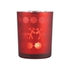 Pomeroy Jubilee Votive Large, Frosted Antique Red