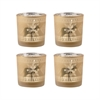 Reindeer Set of 4 Votive Holders