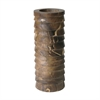 Marbled Terraced Wood Pillar Holder - Medium