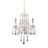 ELK lighting Opulence 3 Light Chandelier In Antique White And Rose Crystal