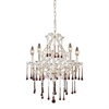 ELK lighting Opulence 5 Light Chandelier In Antique White And Amber Crystal